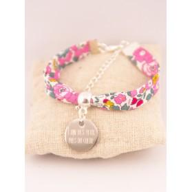 Bracelet Enfant Liberty Personnalisé Betsy Pivoine & Médaille Gravée