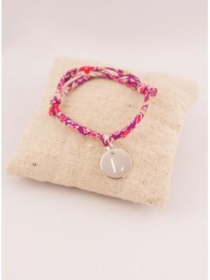 Bracelet Liberty Enfant Ajustable Petite Médaille Argent Ronde Gravée