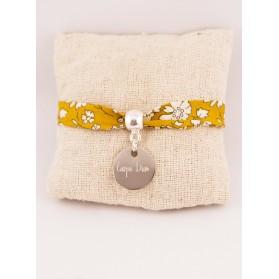 Bracelet Liberty Personnalisé Capel Ocre & Médaille Gravée