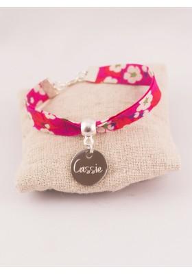 Bracelet Liberty Personnalisé Mitsi Red & Médaille Gravée