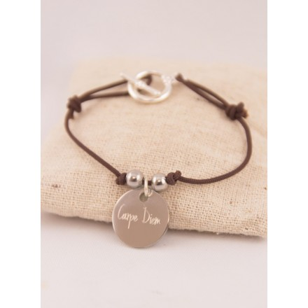 Bracelet Liberty Medaille Acier Gravée