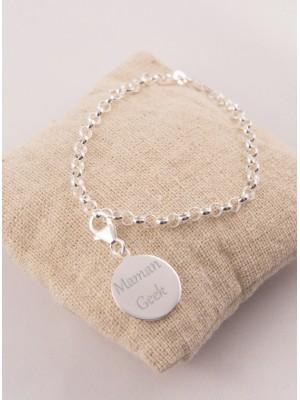 Bracelet Tout Argent & Pampille