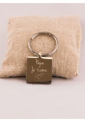 Porte-Clés Gravé Personnalisé Coeur