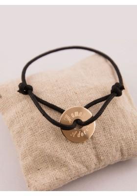 Bracelet Liberty Medaille Argent Ronde Gravée
