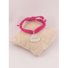 Bracelet Froufrou & Médaille Coeur Gravé Argent
