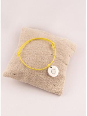 Bracelet Cordon Ajustable Petite Médaille Ronde Gravée