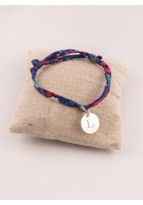 Bracelet Liberty Ajustable Petite Medaille Argent Ronde Gravée