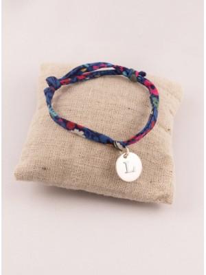 Bracelet Liberty Ajustable Petite Médaille Argent Ronde Gravée