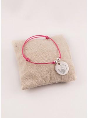 Bracelet Cordon Perles & Médaille Argent Gravée