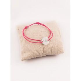 Bracelet Enfant Petite Medaille 2 Trous Argent Gravée