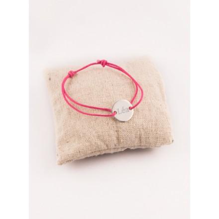 Bracelet enfant petite medaille argent 2 trous