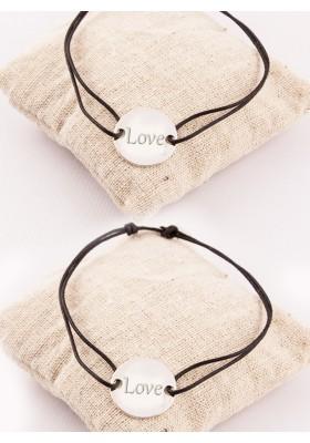Duo Bracelets Jeton Argent Gravé